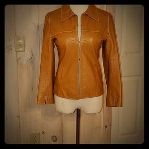 """Beautiful Vintage Leather """"Vera Pelle"""" Jacket"""